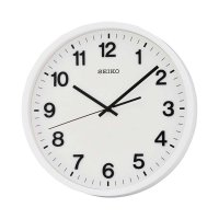 Seiko QXA640W Quiet Sweep Wall Clock Jam Dinding - White [30.5 cm]