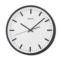 SEIKO QXA657K Quiet Sweep Wall Clock Jam Dinding - Black [30 cm]