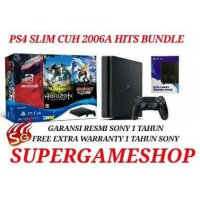 PS4 Slim 500GB CUH 2006A Hits Bundle 3 Games + Psn Plus 3bulan