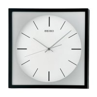 SEIKO QXA673K Quiet Sweep Wall Clock Jam Dinding - Black [31 cm]