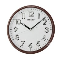 Seiko QXA694B Lumibrite Quiet Sweep Wall Clock Jam Dinding - Brown [28 cm]