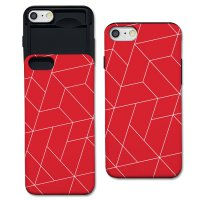 iphone7+ polygon red S1141H slider case