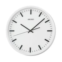 SEIKO QXA657W Quiet Sweep Wall Clock Jam Dinding - Black [30 cm]