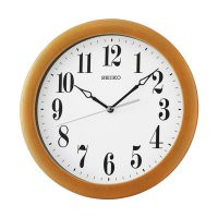 Seiko QXA674B Quiet Sweep Wall Clock Jam Dinding - Brown [28 cm]