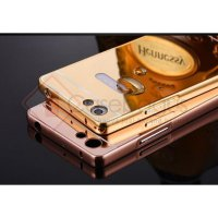 Aluminium Metal Bumper Case with Mirror Cover - Oppo R1X