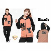 Jaket Couple / Baju Pasangan / Resleting NY