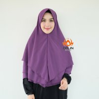 ORLIN KHIMAR PET 3 LAYER KHIMAR POLOS PET ANTHEM MATT CHIFFON CERUTTY BY INDOHIJAB GROSIR