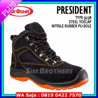 #Boots Sepatu Safety Shoes Dr Osha President Ankle Boot (Suede)