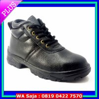(Boots) Sepatu Safety Shoes Murah Ankle Boot (Hitam)