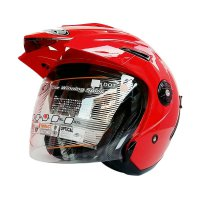 INK T1 Helm Half Face - Solid Red Metallic