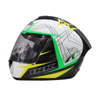 INK CL-Max #3 Helm Full Face - White Yellow Green Fluo