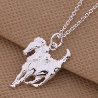 Kalung 925 Sterling Silver Horse Pendant