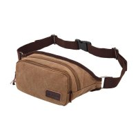 POSO PS-208 Original Laptop Adapters Packages Fanny Pack Belt Phone Travel Male Slim Waist Bag - Bro