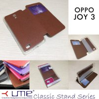 Ume Classic View Leather Case Oppo Joy 3
