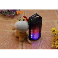 Speaker Mini Bluetooth Portable with Colorful LED Light [RK-908] Black