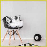 Wallpaper Sticker Dinding Horizontal Grey White - GP 11541