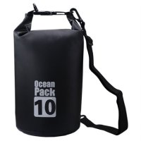 Outdoor Waterproof Bucket Dry Bag 10 Liter - Black