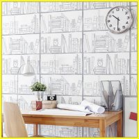Hyundae Fixpix Wallpaper Sticker Dinding Study Room - HWP 21643