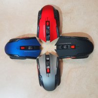 Mouse Wireless Gaming 6D Mouse Windows MacOs Mirip Fantech Raigor - Emas