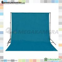 Background Polos Warna Biru Muda 3x6