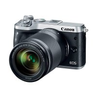Canon EOS M6 Kit 18-150mm Kamera Mirrorless - Silver Free Mount Adapter EF-EOS M Without Tripod