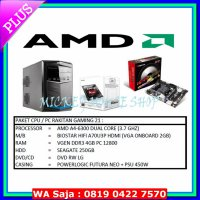 #PC Gaming PAKET CPU / PC RAKITAN GAMING 21 /AMD A4-6300(3.7 GHZ)/ RAM 4GB