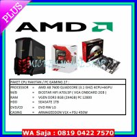 PAKET CPU / PC RAKITAN GAMING 27 / AMD A8-7600 (3.1 GHZ)/RAM 8 GB