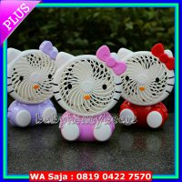 (Dijamin) Kipas angin Lampu USB/Mini fan portable Hello Kitty rechargeable