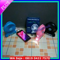 pb kipas angin portable mini fan power bank senter torch usb powerbank