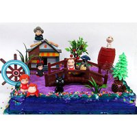 [poledit] 15 Piece ANIME Studio Ghibli Themed Birthday Cake Topper Set Featuring Ponyo, Yu/14700013