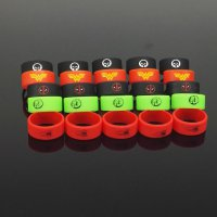 Vape Silicone Rubber Band Marvel Logo 20mm 1PCS - Multi-Color