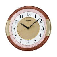 SEIKO QXA272B Wall Clock Jam Dinding - Metallic Brown Gold [31 cm]
