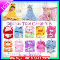 Bedding Accessories Selimut Topi Carter's Double Fleece Selimut Hoodie Bulu Bayi Grosir