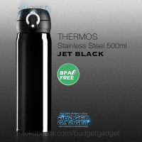 Botol Minum Thermos Stainless Steel 500ML JET BLACK Color