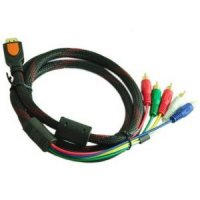 High Speed HDMI to 5 RCA Cable Gold Plated 1.5 Meter