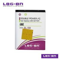 LOG-ON Battery For Nokia BL 5B - Double Power & IC Battery - Garansi 6 Bulan