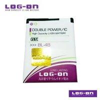 LOG-ON Battery For Nokia BL-4B - Double Power & IC Battery - Garansi 6 Bulan