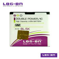 LOG-ON Battery For Nokia BL-5K - Double Power & IC Battery - Garansi 6 Bulan