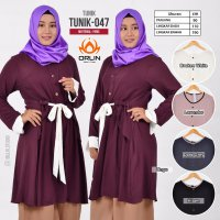 ORLIN TUNIK-047 ATASAN POLOS TWO TONE MATT KATUN PARIS ALL SIZE