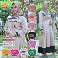 Orlin KATRINA DRESS BAHAN MAXMARA SATIN PREMIUM EDISI LEBARAN BY INDOHIJAB GROSIR