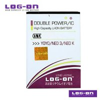 LOG-ON Battery For OPPO YOYO/NEO 3 - Double Power & IC Battery - Garansi 6 Bulan