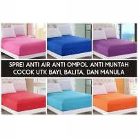 sprei water proof 120 x 200 IMPORT KOREA anti bocor air