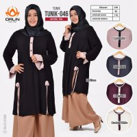ORLIN TUNIK-046 ATASAN / TUNIK POLOS MATT PARIS ALL SIZE BY INDOHIJAB GROSIR