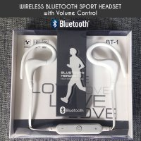 Earphone Bluetooth Headset Wireless Sport BT-1 for Android / Apple