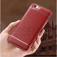 Oppo A57 Neo 10 - Aluminium Metal Bumper Leather Back Case Cover