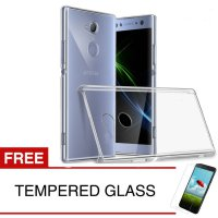 Crystal Case for Sony Xperia XA2 - 5.2 inch - Clear Hardcase + Gratis Tempered Glass