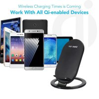 Qi Fast Wireless Charger Rapid Charging Stand for Samsung Galaxy S8 / S8 Plus