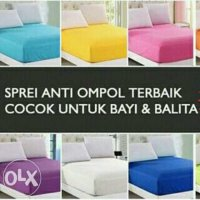 SPREI WATERPROOF 180X200 180 X 200 ANTI OMPOL AIR BOCO