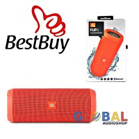 JBL Flip 3 Speakerphone, Anti-percikan air, JBL Bass Radiator - Orange