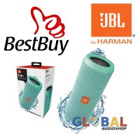 JBL Flip 3 Speakerphone, Anti-percikan air, JBL Bass Radiator - Teal